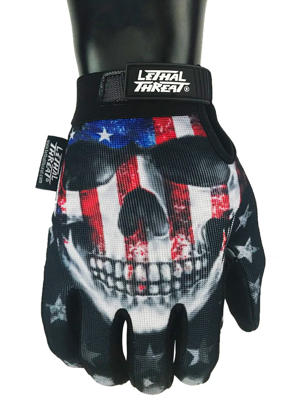 USA Skull Gloves by Lethal Threat