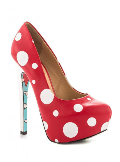 """Gnomies"" Heels by Taylorsays (Red) - www.inkedshop.com"