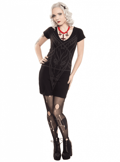 "Women's ""Goathead"" Dress by Kreepsville 666 (Black) - InkedShop - 1"