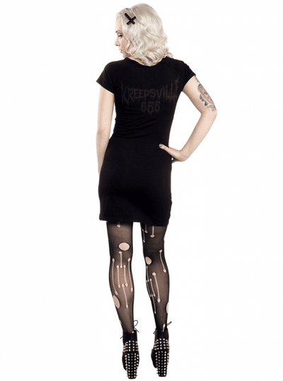 "Women's ""Goathead"" Dress by Kreepsville 666 (Black) - InkedShop - 3"