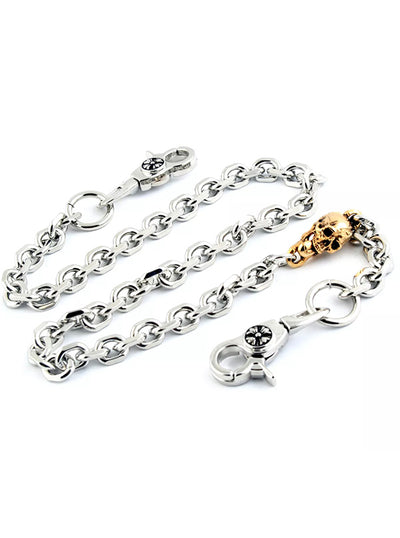 Men's Golden Skull Wallet Chain by Wicked Steel