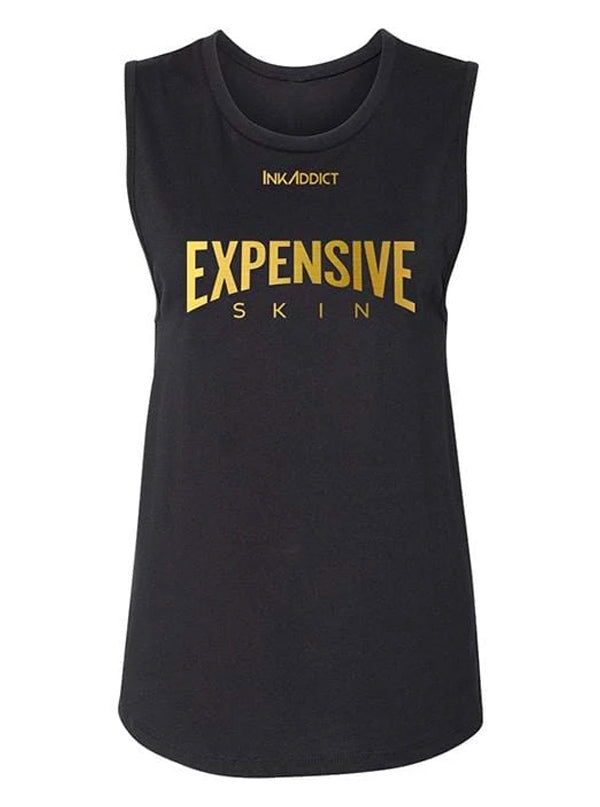 "Women's ""Expensive Skin"" Muscle Tank by InkAddict (More Options)"