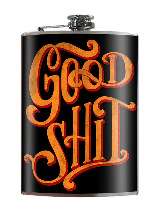 Good Shit Flask by Trixie & Milo