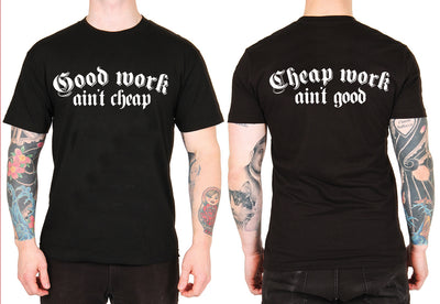 Unisex Cheap Work Ain't Good Tee by Dirty Shirty