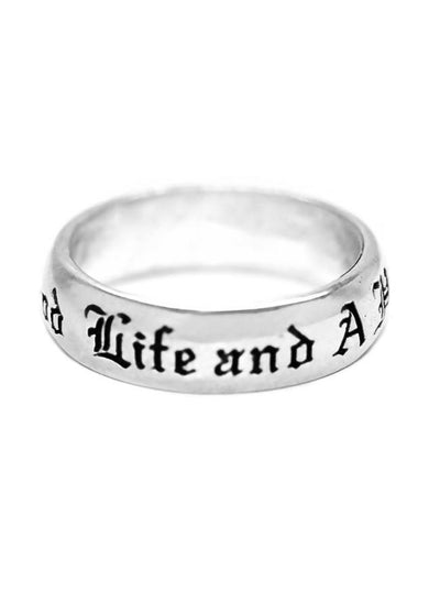 """A Good Life, Happy Death"" Ring by Blue Bayer Design - www.inkedshop.com"