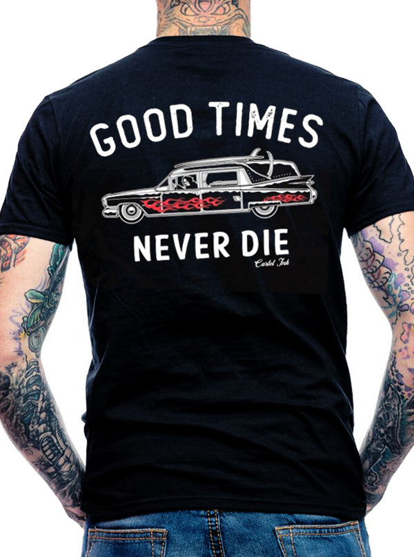 Men's Good Times Never Die Tee by Cartel Ink