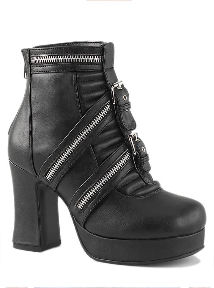 "Women's ""Gothika"" Vegan Ankle Boots by Demonia (Black) - www.inkedshop.com"