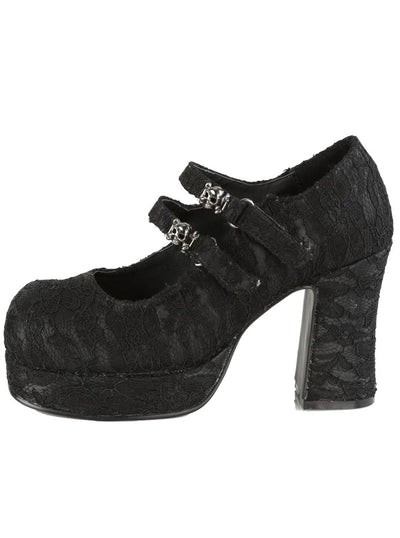 "Women's ""Gothika 09"" Maryjane Heels by Demonia (Black)"