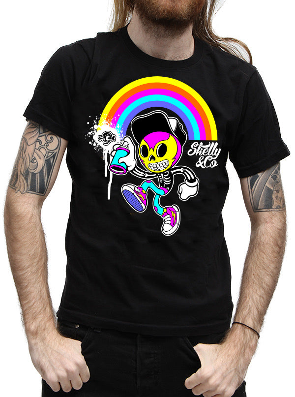 MEN'S SKELLY GRAFFITI TEE BY SKELLY & CO ( BLACK)