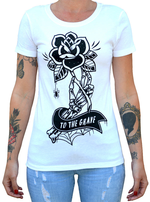 Women's To the Grave Tee by Black Market Art