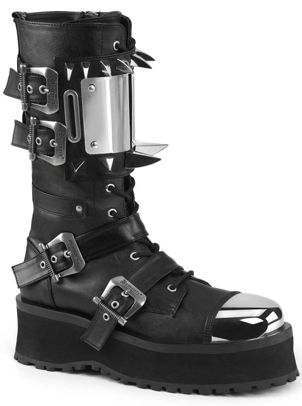 "Unisex ""Gravedigger 250"" Platform Boot by Demonia (Black)"