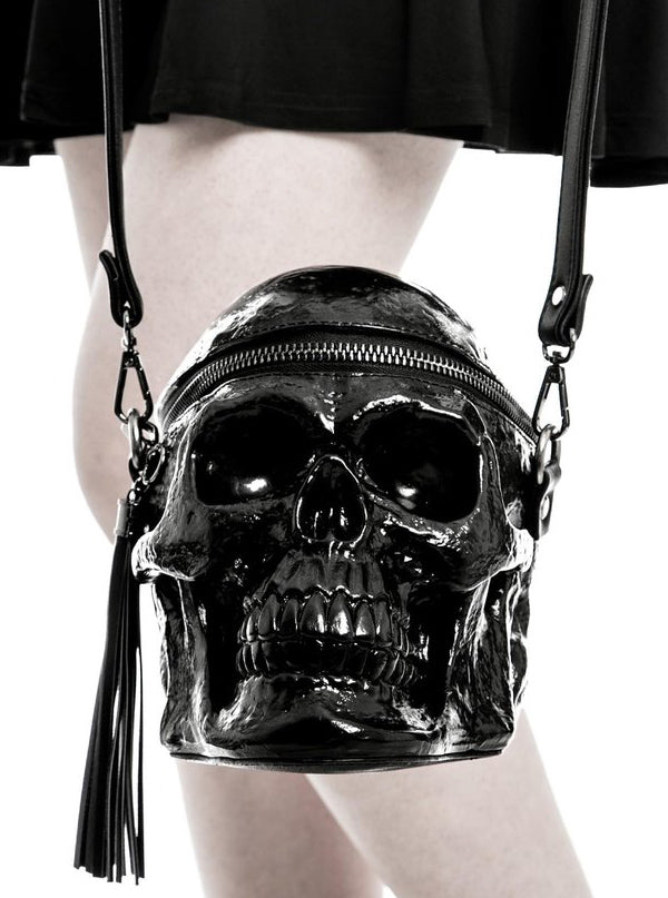 """Grave Digger Skull"" Handbag by Killstar (More Options)"