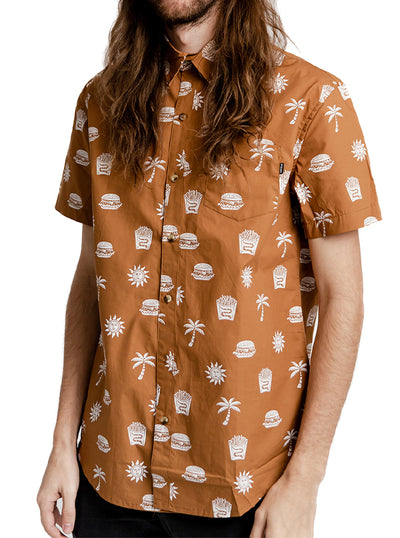 Unisex Take It Greasy Button-Up by Pyknic