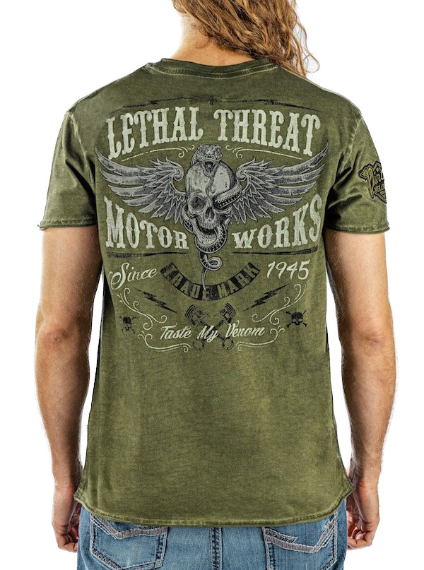 "Men's ""Taste My Venom "" Tee by Lethal Threat (Green)"