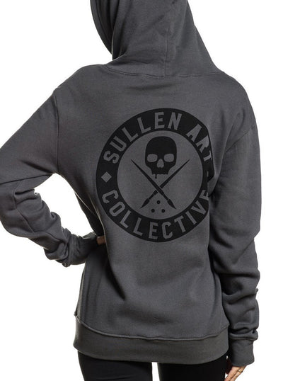 "Women's ""Badge Of Honor"" Zip Fleece Hoodie by Sullen (More Options)"