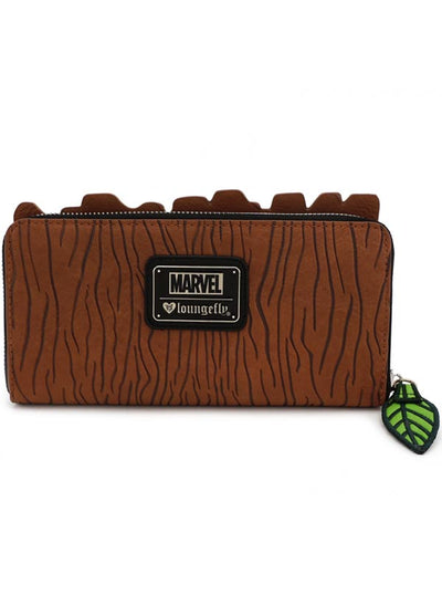 """Marvel: Groot"" Zip Wallet by Loungefly (Brown)"