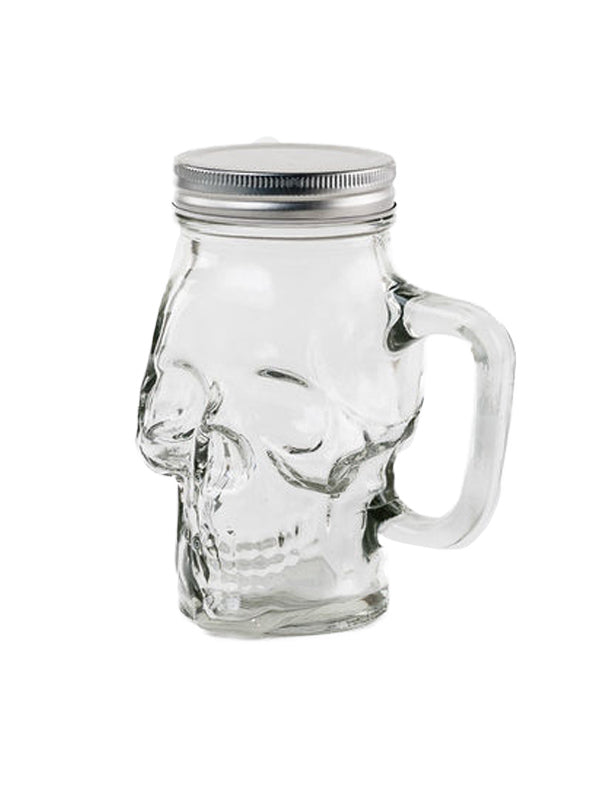 Skull Growler Glass Mug