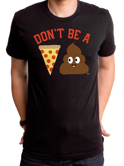 "Men's ""Pizza Poop"" Tee by Goodie Two Sleeves (Black) - www.inkedshop.com"