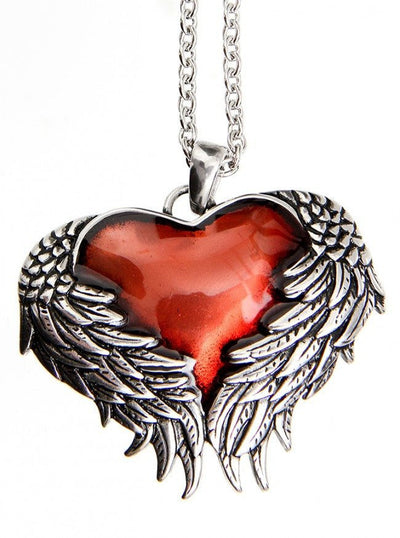 """Guarded Heart"" Necklace by Controse (Silver) - www.inkedshop.com"