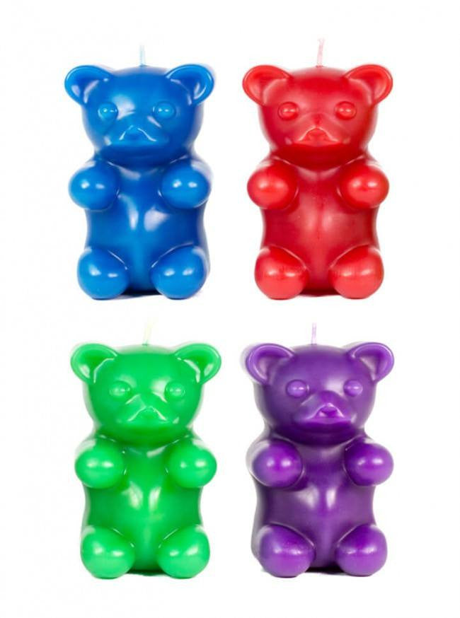 """Gummi Bear"" Candle by Skeleton Candles (Multi Options) - www.inkedshop.com"