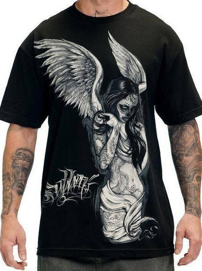 "Men's ""Fallen Angel"" Tee by Sullen (Black)"