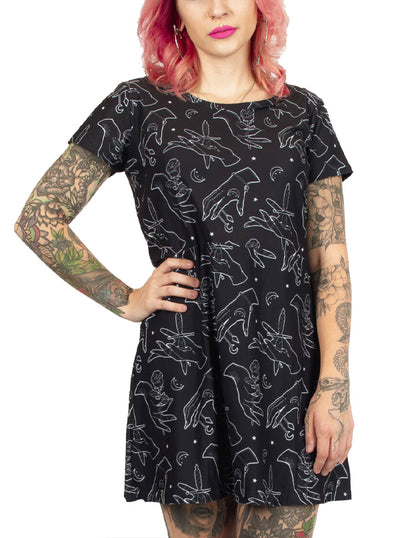 Women's Gypsy Hands A-Line Mini Dress by Too Fast