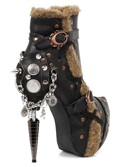 """Griffin"" Boot by Hades (Black) - www.inkedshop.com"