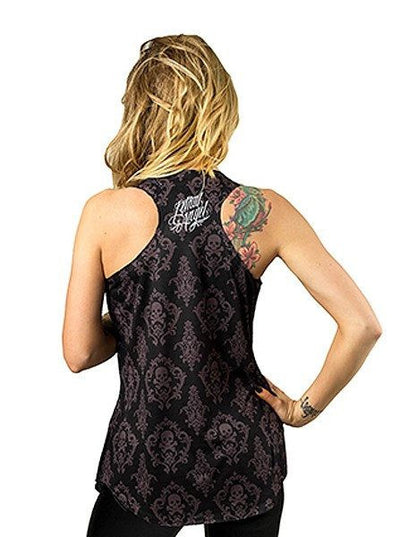 "Women's ""Half DOD Skull"" Sublimation Tank by Lethal Angel (Black) - www.inkedshop.com"