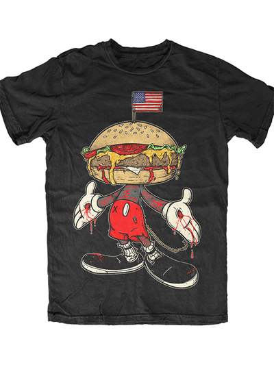"Men's ""Merica Mouse"" Tee by Skygraphx (Black) - www.inkedshop.com"