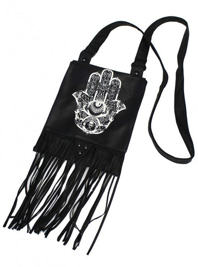 "SA ""Cleo Hamsa"" Saddle Bag by Sullen (Black) - www.inkedshop.com"
