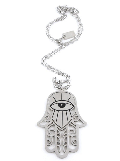 """Hamsa"" Necklace by Killstar (Black)"