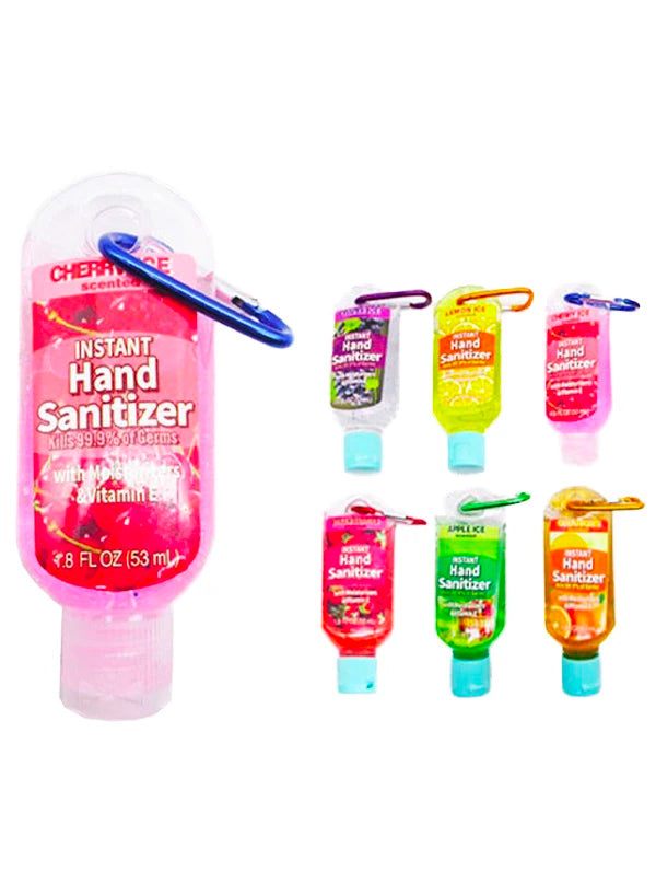 1.8oz Travel Size Key Chain Hand Sanitizers