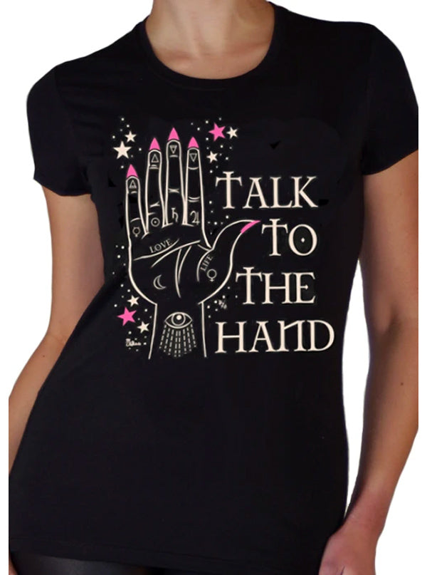 Women's Talk To The Hand Tee by Pinky Star