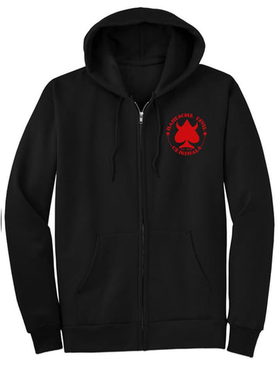 "Men's ""Originals"" Zip Up Hoodie by Handsome Devil (Black) - www.inkedshop.com"