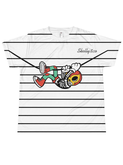 "Kids ""Hang Out!"" Sublimation Tee by Skelly & Co (White)"