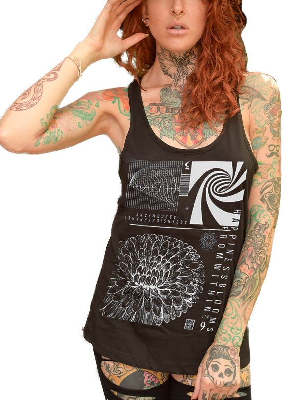 Women's Happiness Blooms From Within Tank by Ascension Apparel