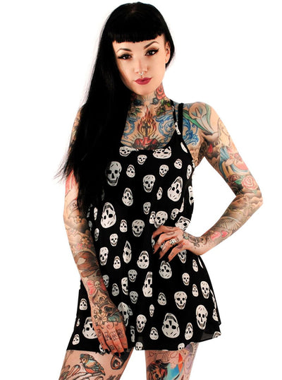 Women's Happy Skulls Dress by Folter Clothing