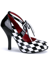 "Women's ""Harlequin"" Heels by Funtasma (Black/White) - www.inkedshop.com"