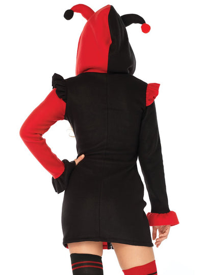 Women's Cozy Harlequin Costume by Leg Avenue (Black/Red)