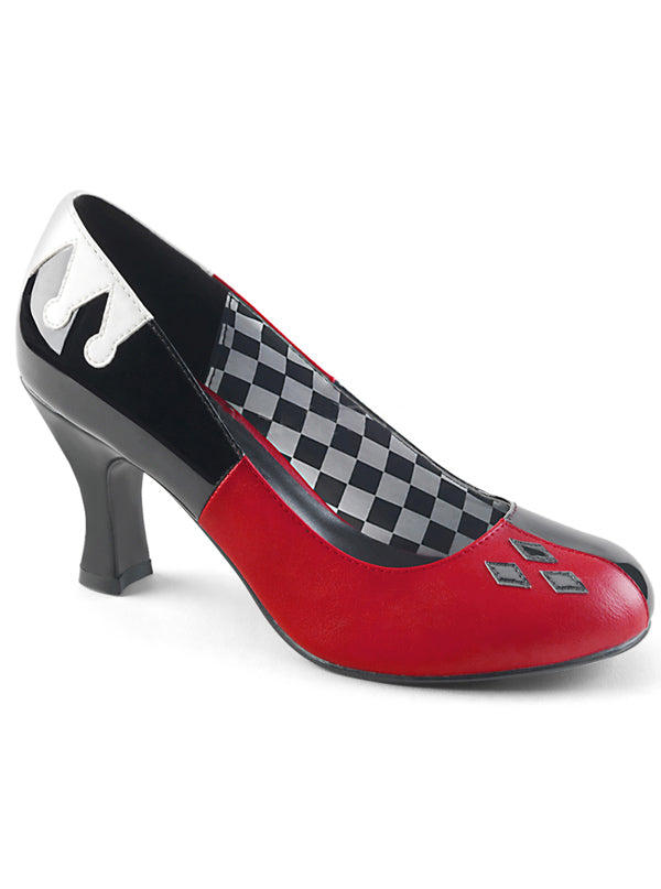 Women's Harley 42 Heels by Funtasma (Black/Red)