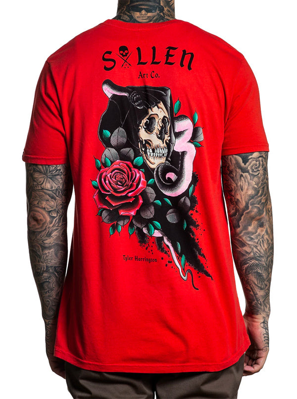 "Men's ""Harrington"" Tee by Sullen (Red)"