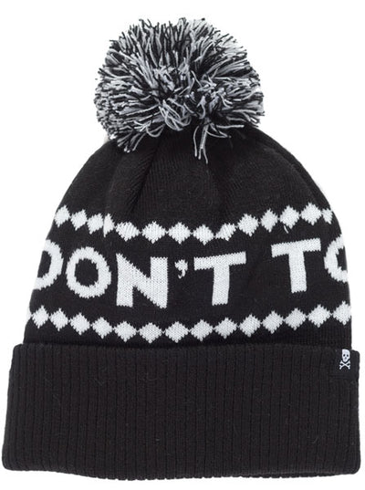 """Don't Touch Me"" Pom Hat by Sourpuss (Black)"
