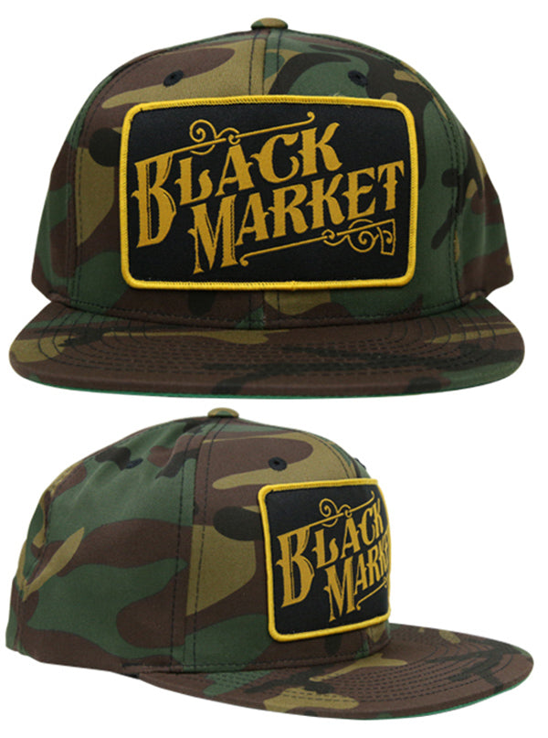 Black Market Snapback Hat by Black Market Art