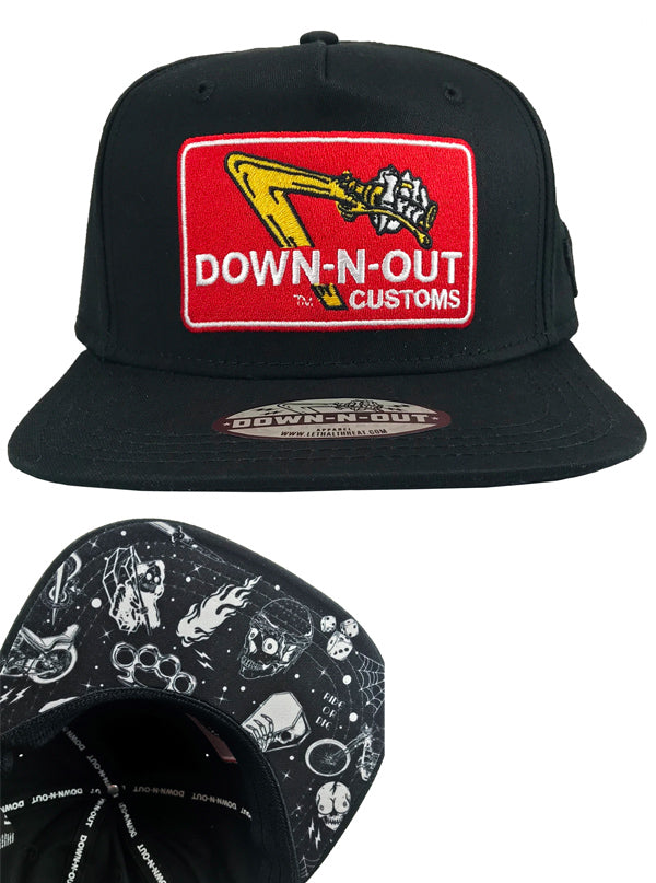 DOWN-N-OUT Flat Bill Hat by Down N Out