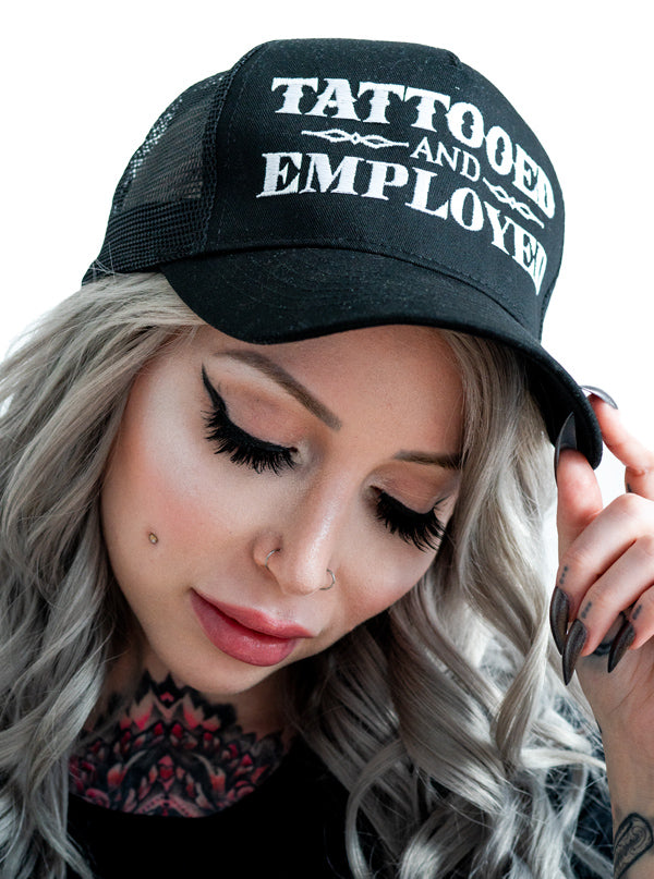 Tattooed and Employed Snapback Hat by Steadfast Brand (Black)
