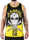 "Men's ""Hated In The Nation"" Basketball Jersey by Headrush Brand (Yellow)"