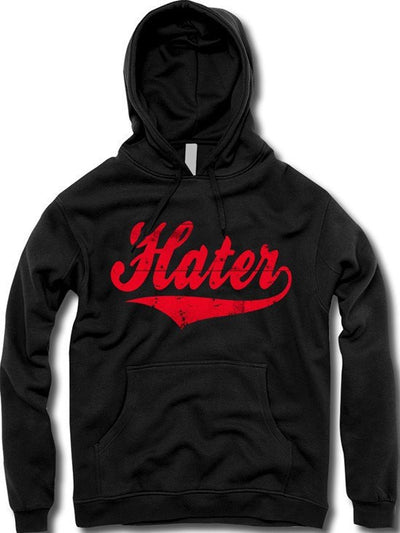 "Unisex ""Hater"" Hoodie by The T-Shirt Whore (Black) - www.inkedshop.com"
