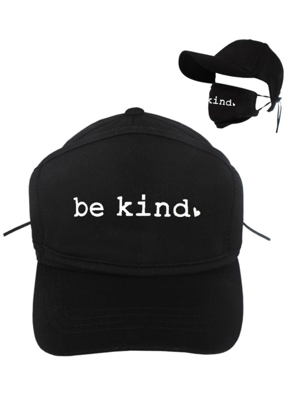 Be Kind Baseball Hat with Face Mask