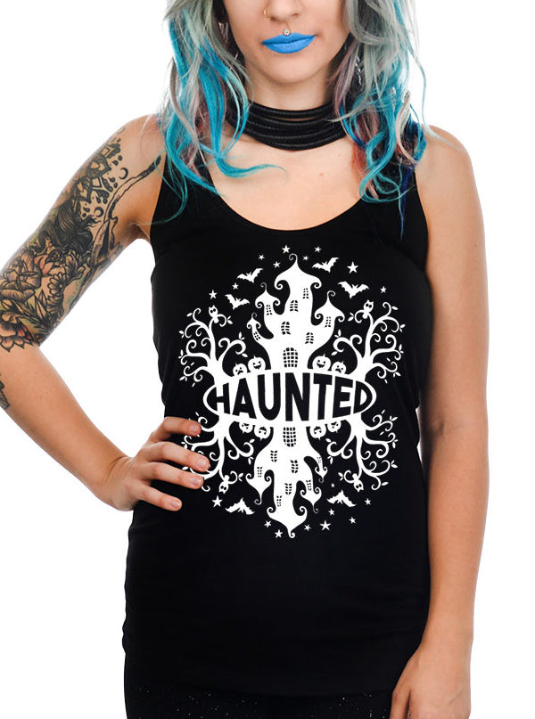 Women's Haunted House Racerback Tank by Too Fast