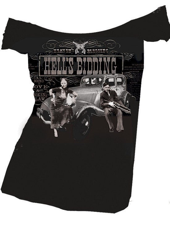 "Women's ""Hells Bidding"" Off Shoulder Top by Se7en Deadly - InkedShop - 1"